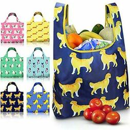 NEW Grocery Shopping Bags 6 Pack Reusable Washable Grocery B