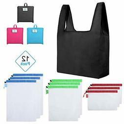 NEW Premium Reusable Grocery Shopping Bag Foldable WATERPROO