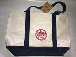 NEW Trader Joe's Reusable Canvas Eco Tote Bag   Heavy Duty G