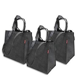 Pack of 3 Reusable Grocery Bags Large Shopping Bag with Rein