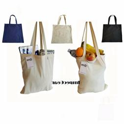 1 DOZEN -100% Cotton Reusable Grocery Blank Shopping Tote To