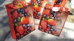 """Planet-e Reusable Grocery Bags by ecostream >Lot of 2  >16"""""""