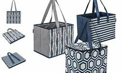 Planet E Reusable Grocery Shopping Bags – 2 Large Collapsi