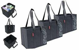 Planet E Reusable Grocery Shopping Bags Large Collapsible Bo