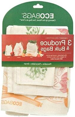 Produce & Bulk Bags with Graphics, 3 ct by Eco Bags