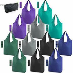 Reusable Bags for Shopping Machine Washable 12 Pack Xlarge G