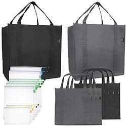 Reusable Folding Grocery and Produce Bags: 6 Large Fabric To