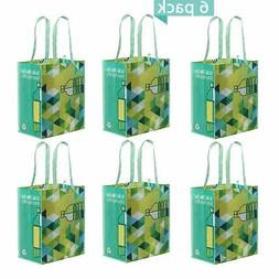 reusable grocery bag from recycled plastic bottles
