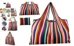 Reusable Grocery Bag, Gophra 2 Packs Large Washable Foldable