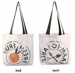 Reusable Grocery Bag Shopping Tote 12 oz Cotton Canvas USA M