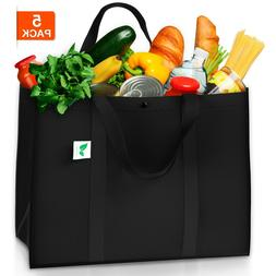 Reusable Grocery Bags  Hold 50+ lbs - Large Super Strong