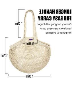 Reusable Grocery Bags, Cotton Net Mesh, Eco-Friendly Heavy D