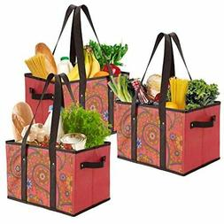 Foraineam Reusable Grocery Bags Durable Heavy Duty Totes Col
