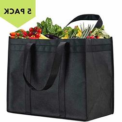 Reusable Grocery Bags Heavy Duty Shopping Tote XL Upright Fo