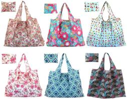 Reusable Grocery Bags Large Foldable Tote Bag Lightweight Sh