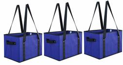 Reusable Grocery Bags Set Shopping Box with Reinforced Botto