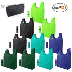 Reusable-Grocery-Bags-Shopping-foldable-bags 10 pack Foldabl