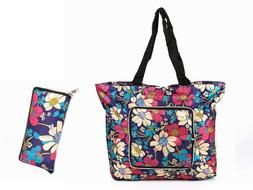 Reusable Grocery Bags , Tote Foldable into Attached Pouch, P