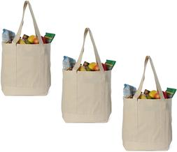 Earthwise Reusable Grocery Bags X-Large 100% Cotton Canvas S