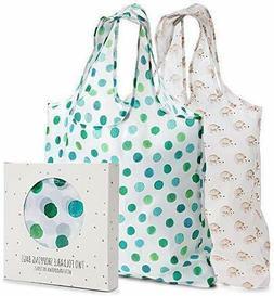 Momiji Reusable Grocery Shopping Bags Foldable Tote Bag Sets