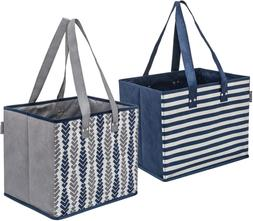 Planet E Reusable Grocery Shopping Bags - Large Collapsible