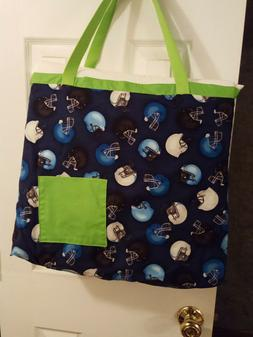 Reusable grocery shopping bags Tote Carry-all, Football Helm