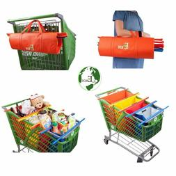 Reusable Grocery Shopping Trolley Bags of 4 PCS with Insulat