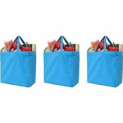 Reusable Heavy Duty 100% Cotton Canvas Grocery Bags Turquois