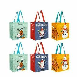 Reusable Holiday Grocery Shopping Tote Bags Extremely Durabl