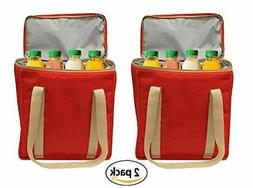 Reusable INSULATED Grocery Bag Tote Heavy Duty Nylon Thermal