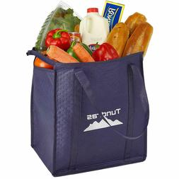 Reusable Insulated Grocery Bags - 2 Pack, Navy - 7.5 Gallon