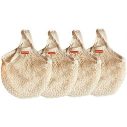 reusable mesh grocery bags cotton string bags