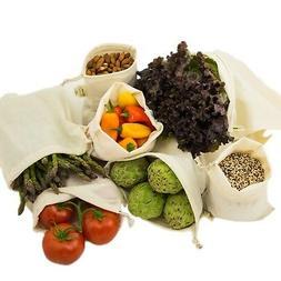 Simple Ecology Reusable Organic Cotton Muslin Grocery Shoppi