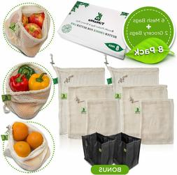 Reusable Produce Bags With Reusable Grocery Bags - Environme