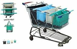 Reusable Shopping Cart Bags and Grocery Organizer Designed f