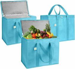 Reusable Insulated Cooler Grocery Bags EX Large Folding Zipp