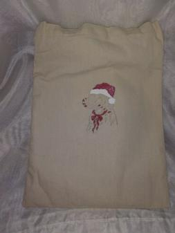 Santa Dog Handmade Tote Bag Reusable Grocery Bag by MGT Desi