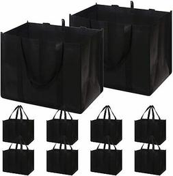 Set of 10 Reusable Grocery Bags Extra Large Super Strong Hea