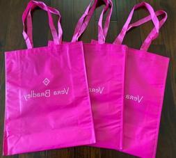 Set of 3 - Vera Bradley PINK Shopping Bag Tote - Market Tote
