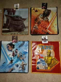 Set of 4 New Star Wars Reusable Tote Grocery Shopping Bags.