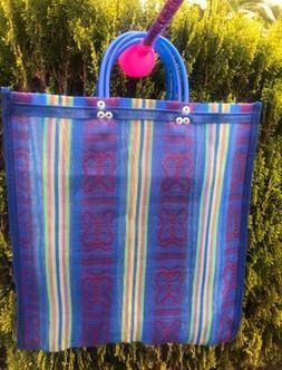 Shopping Market Mexican Bag. Mesh Medium Reusable Beach Tote
