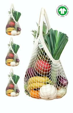 String market reusable Shopping Bag 4 Pack by Ekolojee +Gift