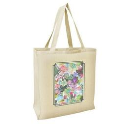 Succulents Oasis Pattern Grocery Travel Reusable Tote Bag