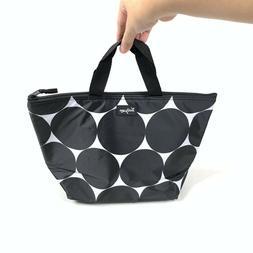 Thirty-One Black White Big Polka Dot Grocery Reusable Therma