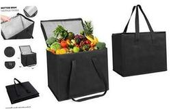 VENO 2 Pack Reusable Insulated Large Grocery Shopping Bags,