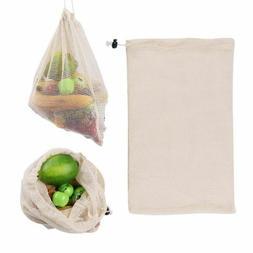 Washable Shopping Net Bag Drawstring Grocery Kitchen Storage