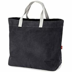 Waxed Canvas Market Tote - Large Travel Bag Beach Reusable G