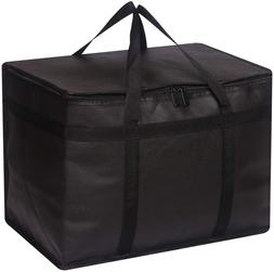 XL Insulated Reusable Grocery Bags with Sturdy Zipper Reinfo
