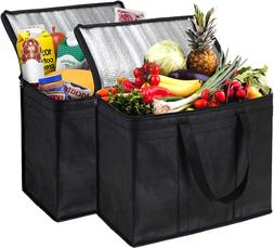 Nz Home Xl Insulated Shopping Bags For Groceries, Sturdy Zip
