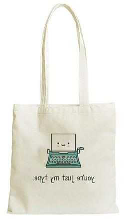 LAWN FAWN You're Just My Type Tote Bag - Reusable Grocery Ma